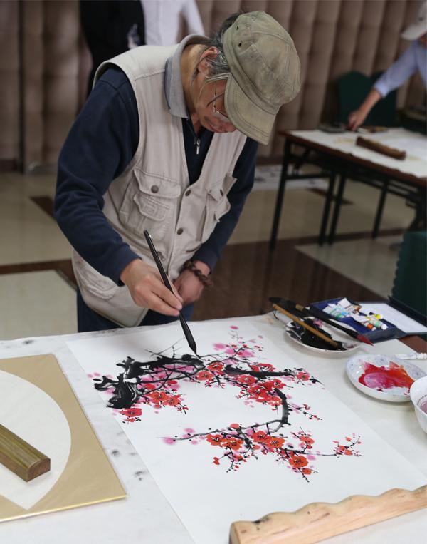 人民画院会员现场书画创作