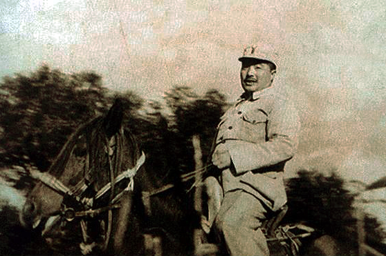 1939年贺龙在冀中前线
