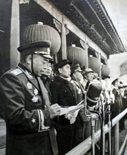 1954年彭德怀元帅主持国庆阅兵