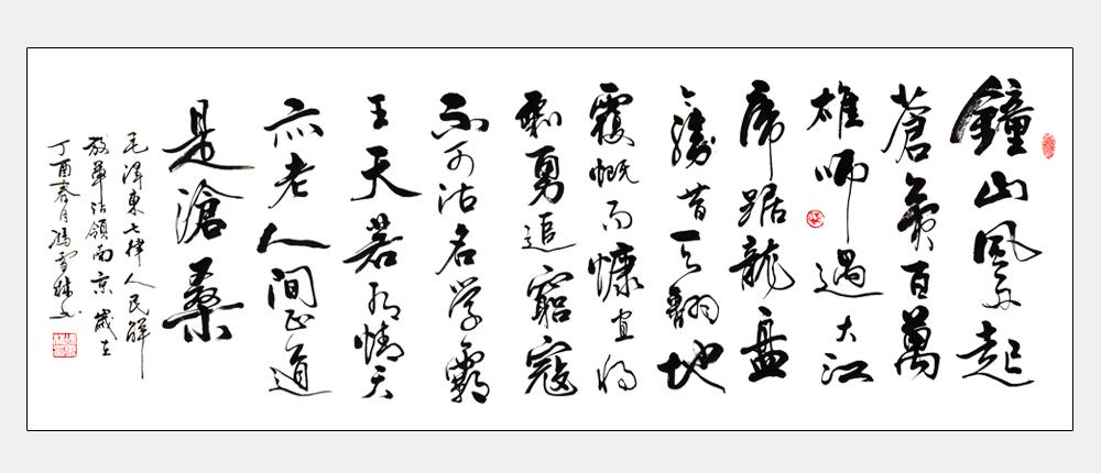 冯雪林书法作品《人民解放军占领南京》
