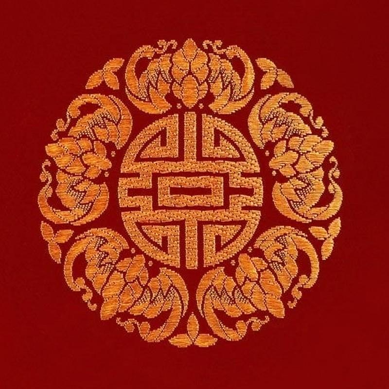 锦缎民俗工艺品——五福(蝠)临门