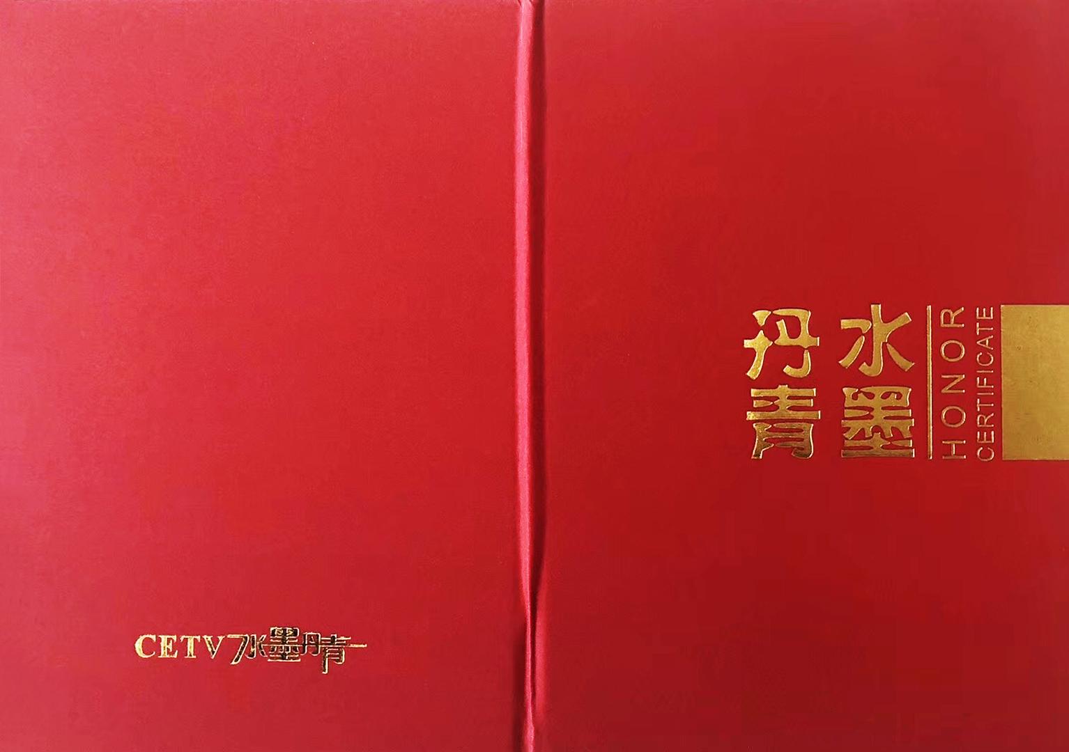 CETV水墨丹青荣誉证书