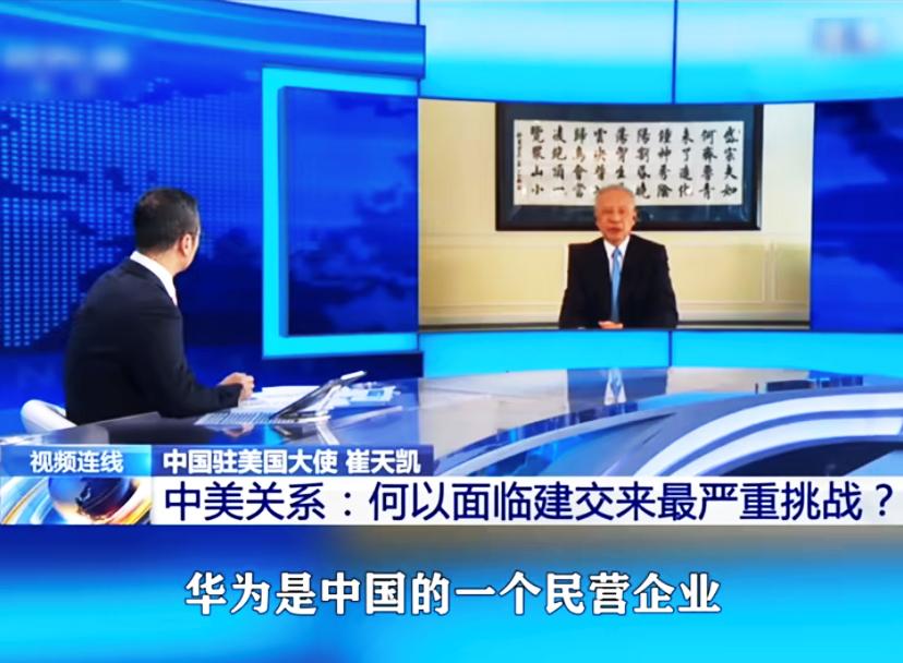央视主持人白岩松联系中国驻美大使崔天凯