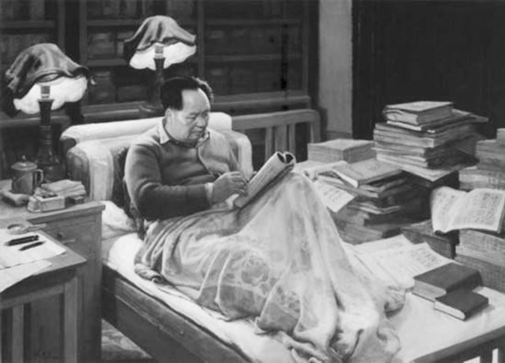 毛主席在读书